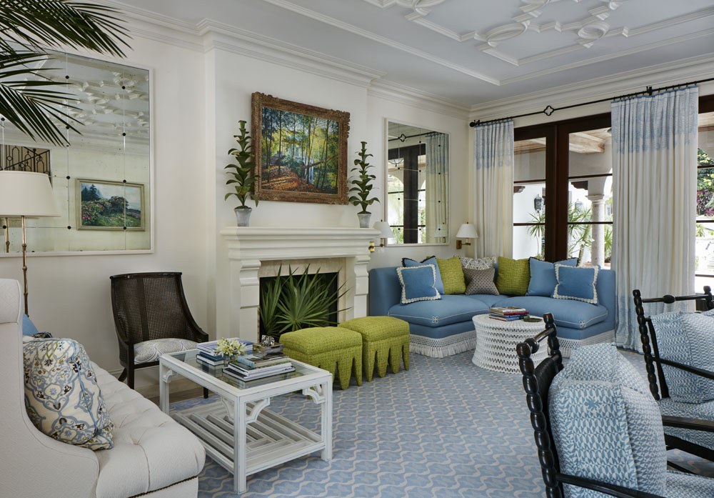 Memories of a beloved Antigua island house lead the design of this tropically spirited house in Palm Beach.